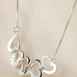 Jewelry - Heart to Heart 925 Sterling Silver Necklace